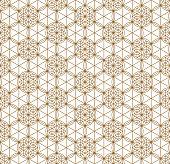 Seamless japanese pattern shoji kumiko in golden.