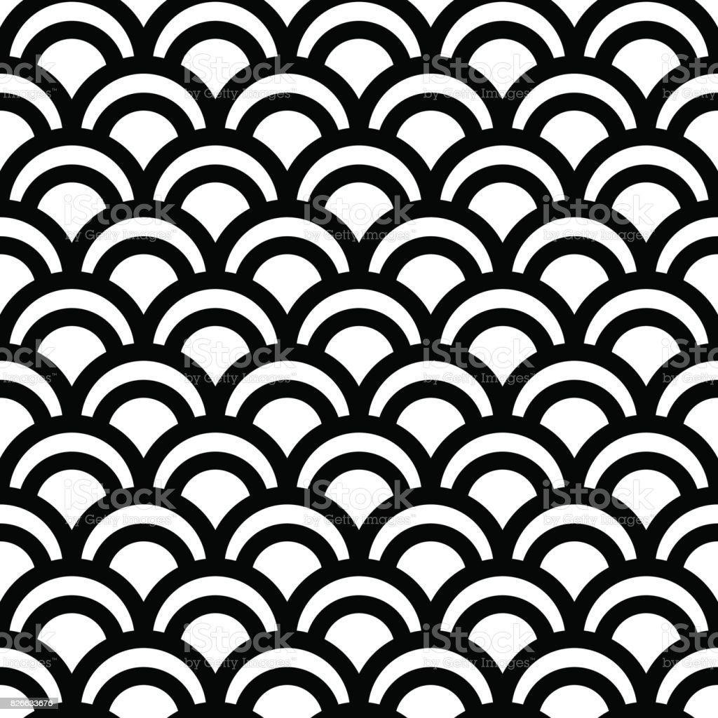 Seamless japanese pattern vector art illustration