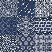 seamless japanese traditional mesh pattern