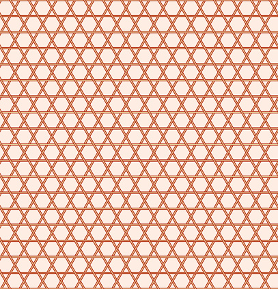 Kagome Seamless Japanese Traditional Pattern Stock Illustration - Download Image Now