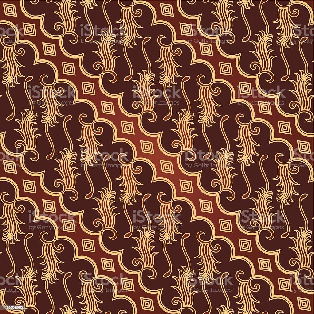 Seamless Javanese Batik Pattern vector art illustration