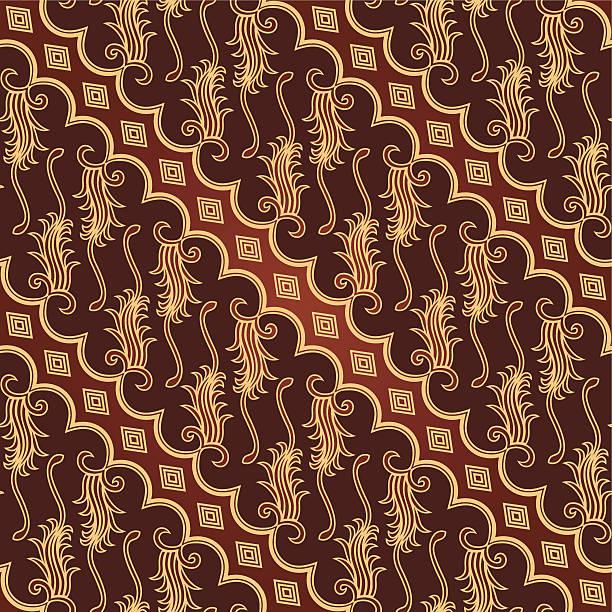stockillustraties, clipart, cartoons en iconen met seamless javanese batik pattern - batik
