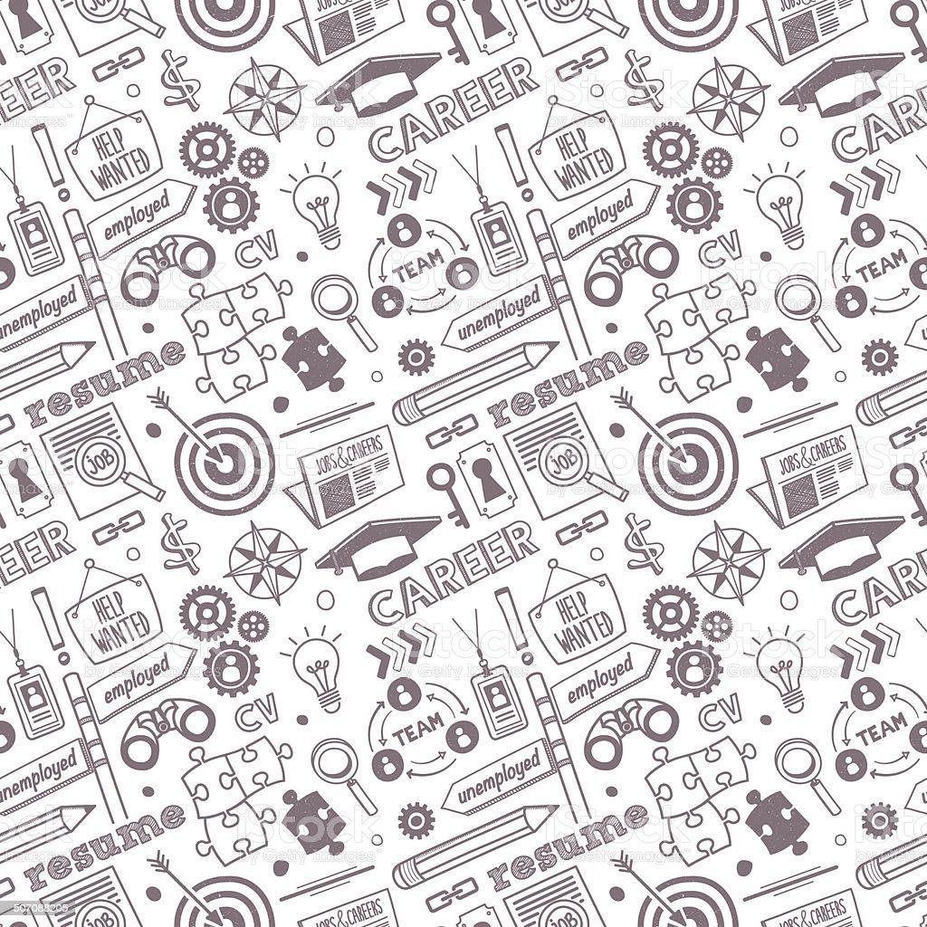 Seamless Jobs & Career Pattern vector art illustration