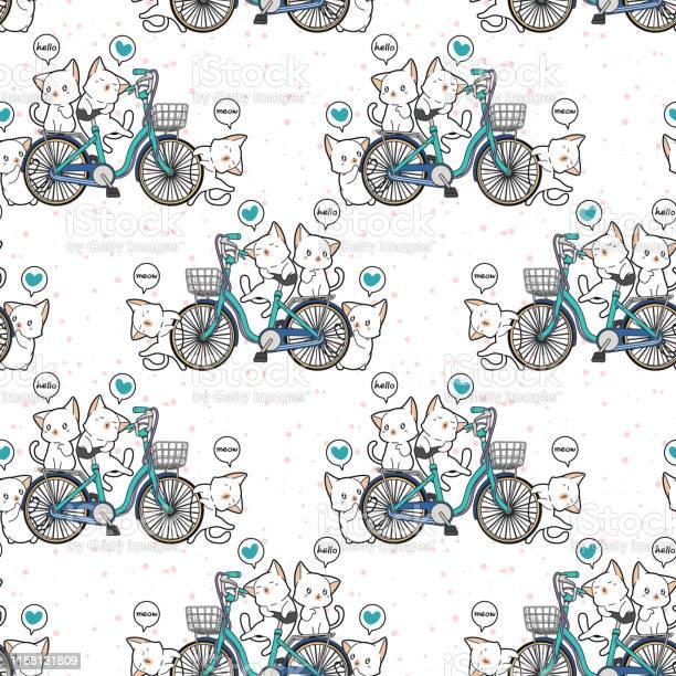 Seamless kawaii cats and bicycle pattern in cartoon style vector id1158131809?b=1&k=6&m=1158131809&s=612x612&h=f4hbreggrcdmw3ne7j 6s66qvrthvu6epamltioaybi=