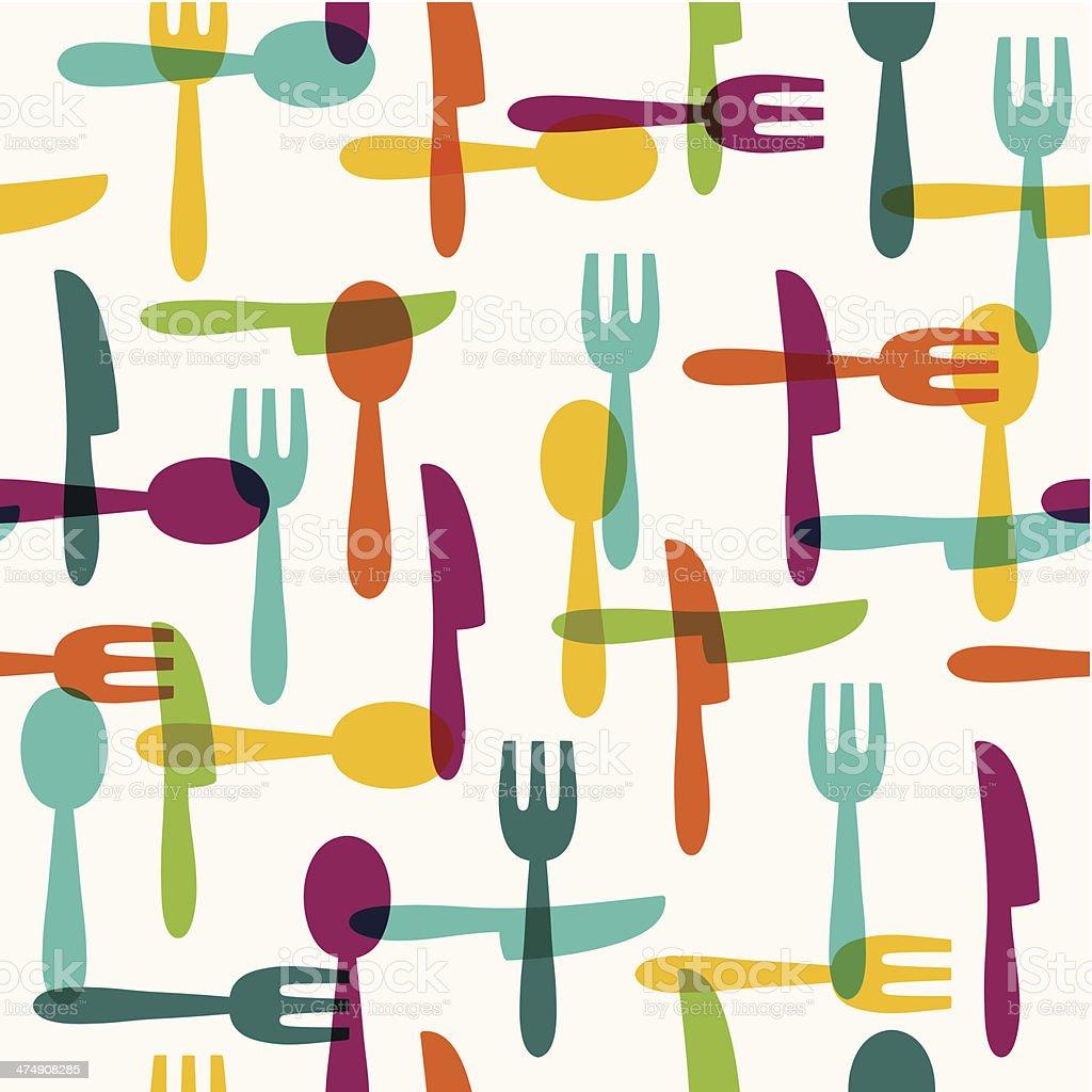 Seamless kitchen pattern vector art illustration
