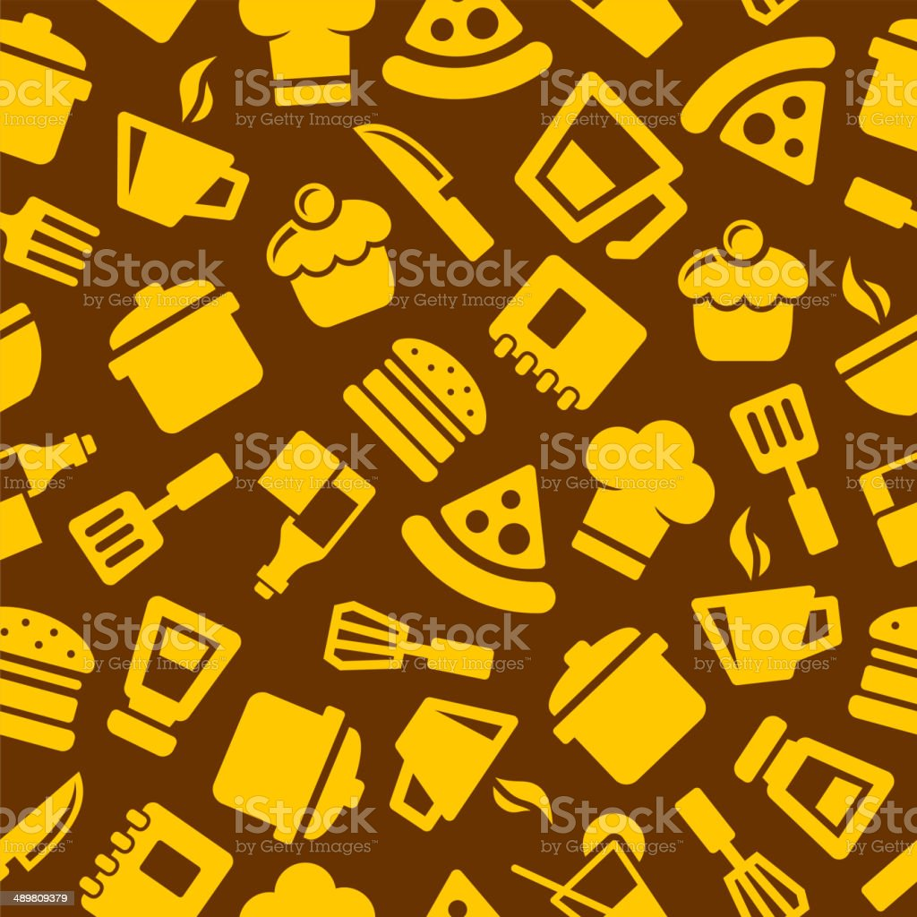 Seamless Kitchen Pattern royalty-free seamless kitchen pattern stock vector art & more images of apron