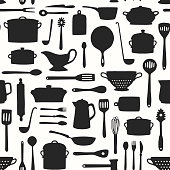 Seamless Kitchenware Pattern