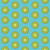 Seamless Pattern Background Kiwi