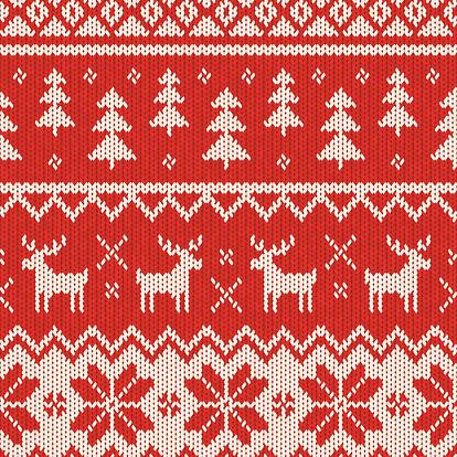 Seamless Knitted Christmas Pattern