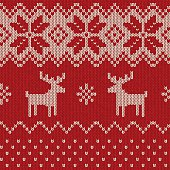 Seamless Knitted Christmas Pattern