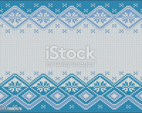 Vector illustration of seamless knitted Nordic pattern