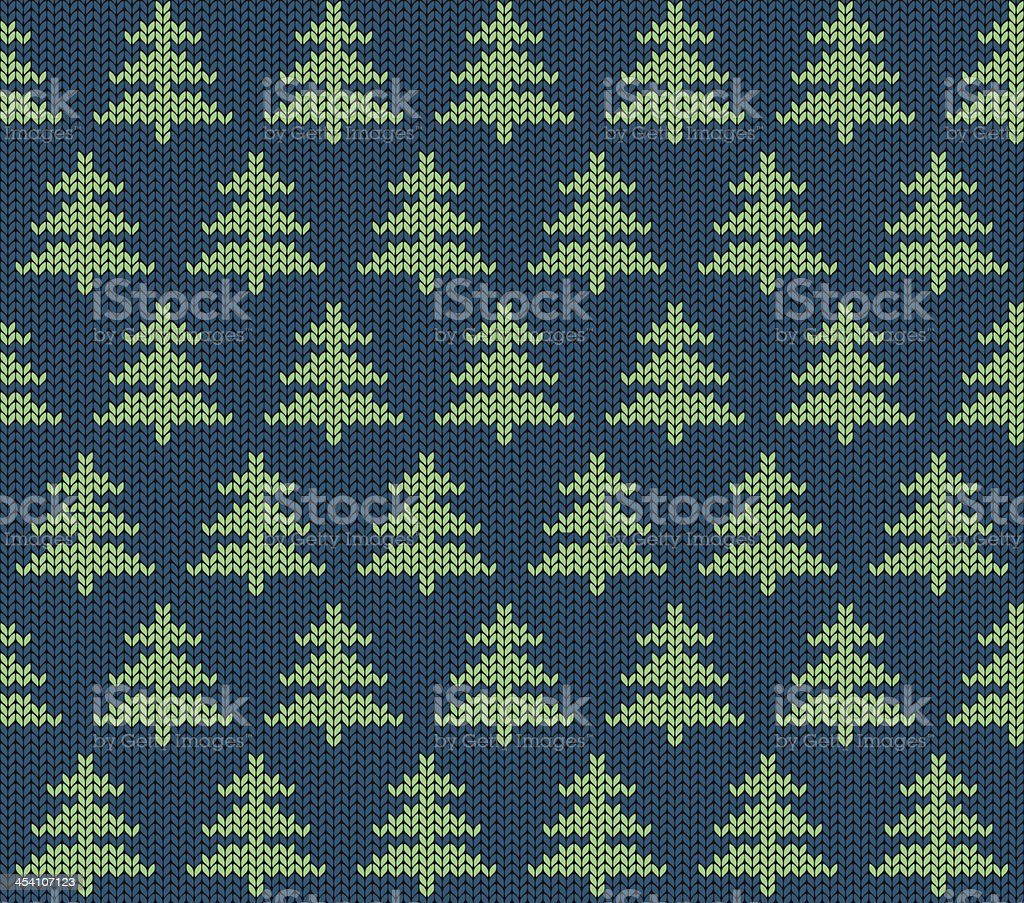 Seamless knitted pattern with trees royalty-free seamless knitted pattern with trees stock vector art & more images of backgrounds