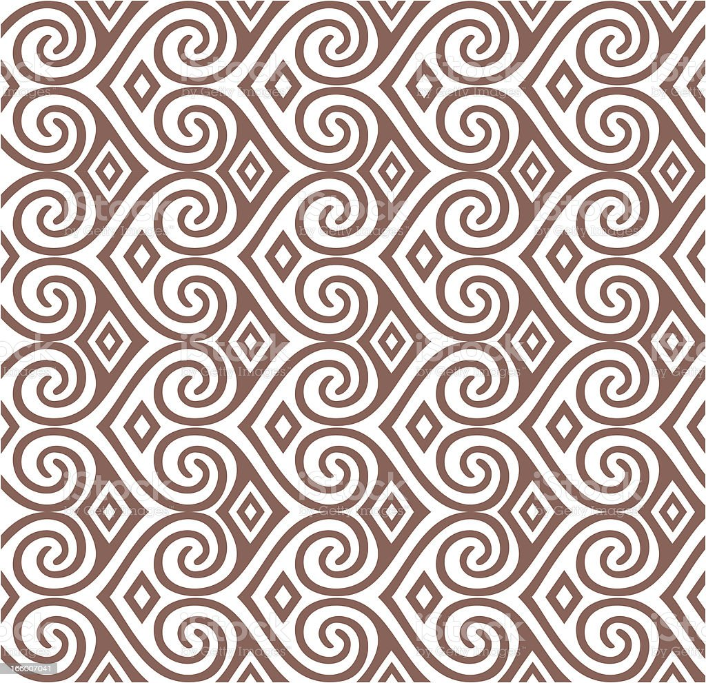 Seamless Kowhaiwhai Design vector art illustration