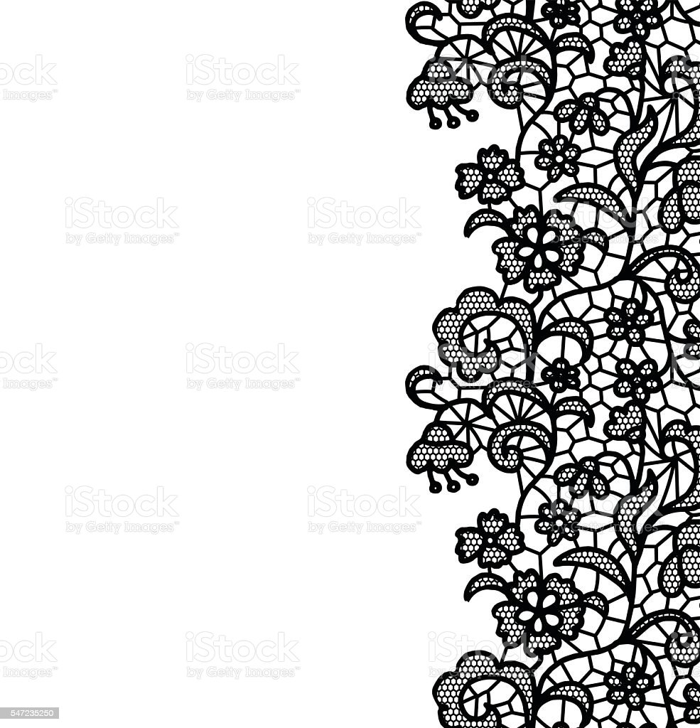 Seamless lace border invitation card stock vector art more images seamless lace border invitation card royalty free seamless lace border invitation card stock stopboris Images