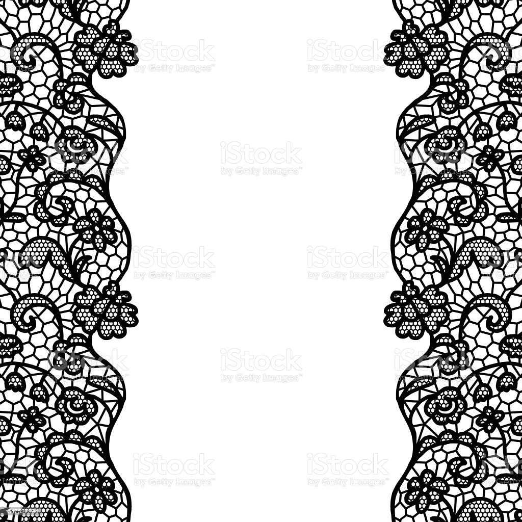 seamless lace border invitation card stock vector art more images rh istockphoto com lace border vector png gold lace border vector