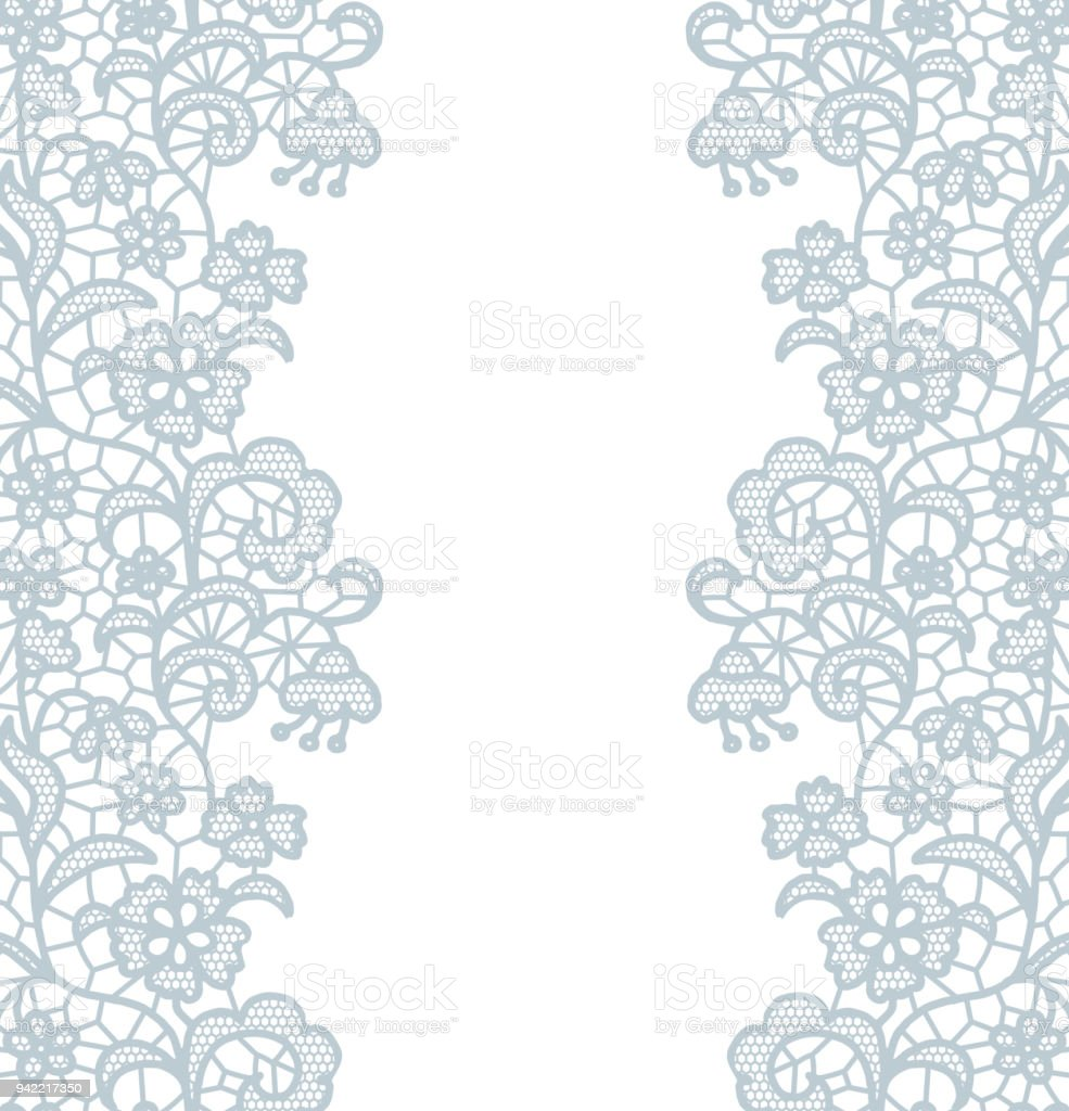 Seamless lace border invitation card stock vector art more images invitation card royalty free seamless lace border invitation card stock stopboris Image collections