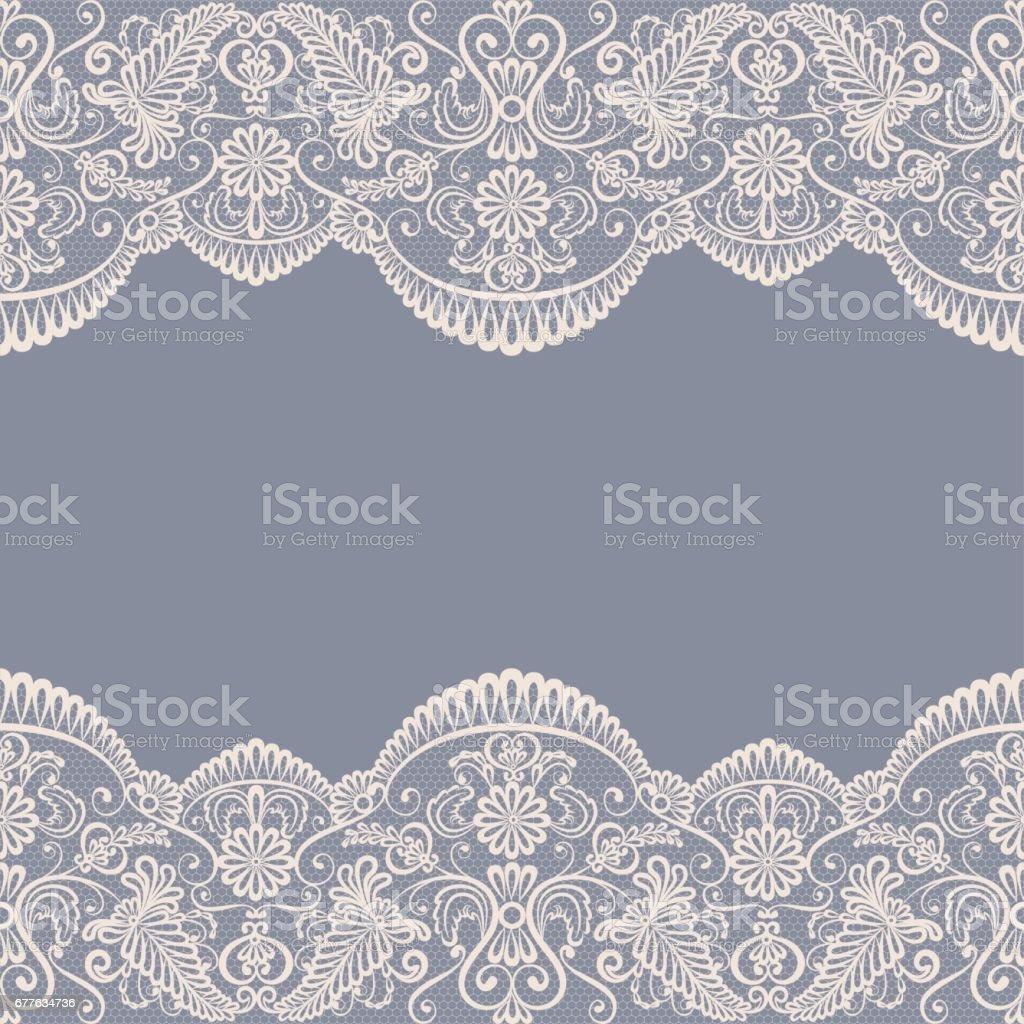 seamless lace border vector art illustration