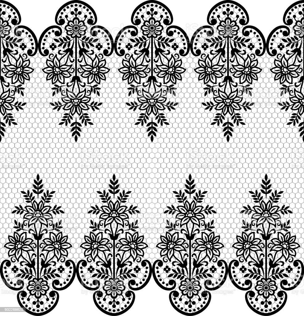 Ilustración de Patrón Sin Costuras De Encaje Flor Vintage Vector De ...