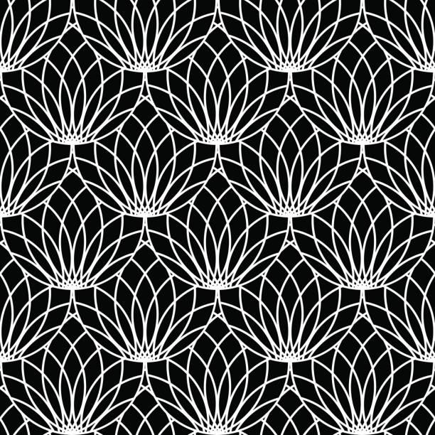 Seamless lacy pattern. - ilustración de arte vectorial