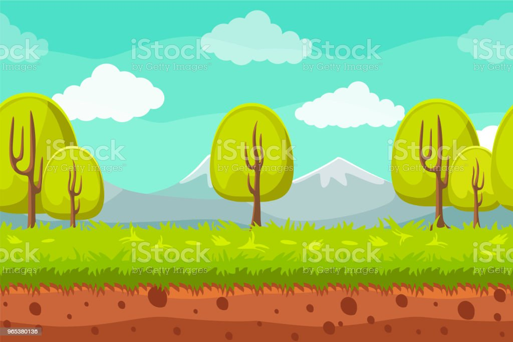 Seamless landscape background. Cartoon horizontal background for games seamless landscape background cartoon horizontal background for games - stockowe grafiki wektorowe i więcej obrazów bez ludzi royalty-free
