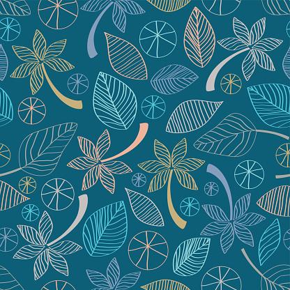 Seamless Leaf and Flower Design