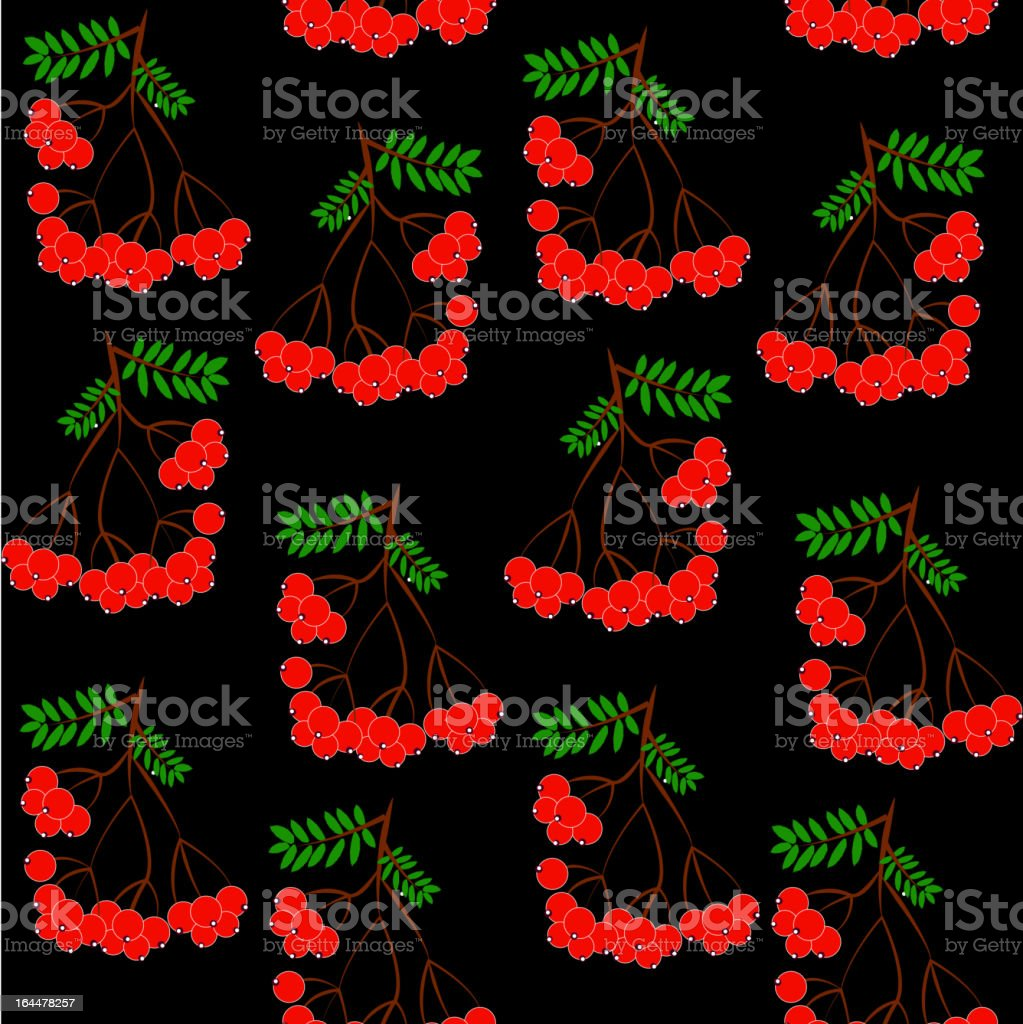 Seamless leaf  and rowanberrys pattern vector background. royalty-free stock vector art