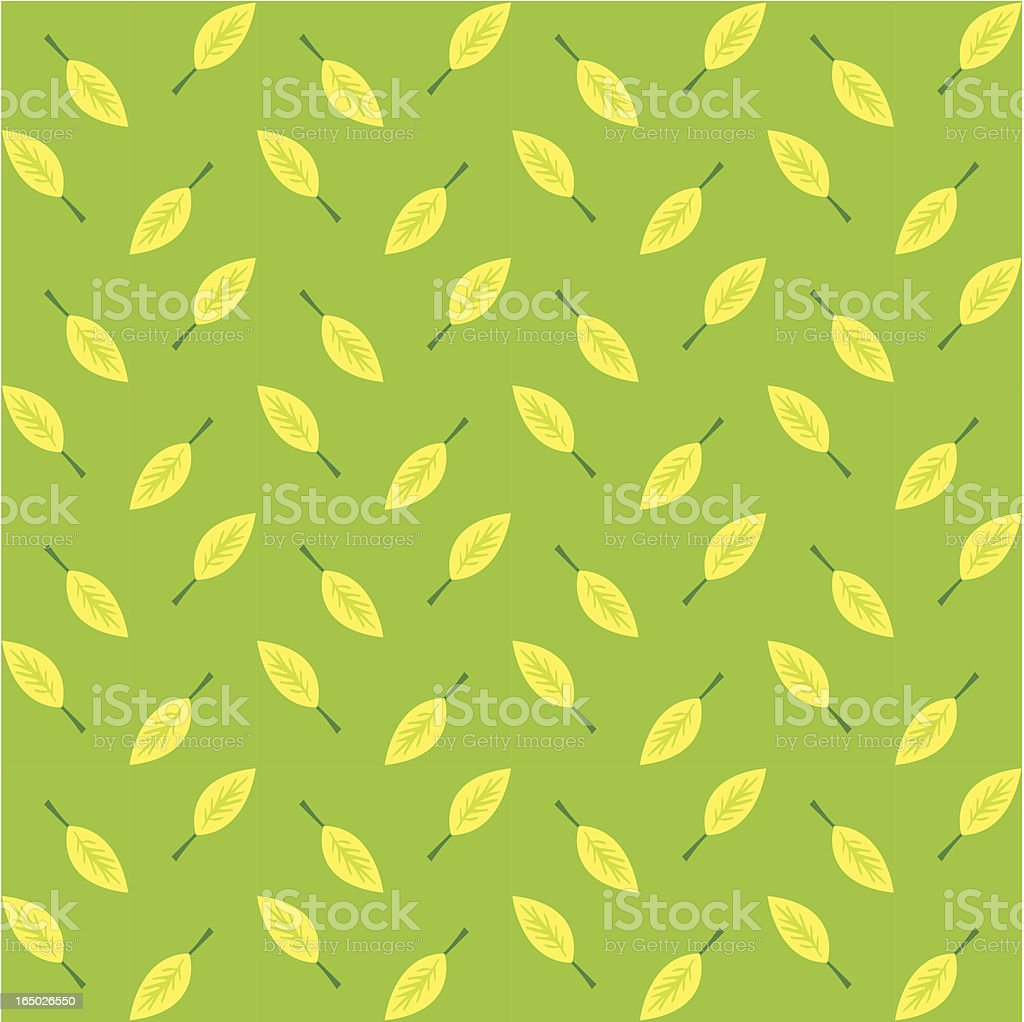 Seamless Leaf Background ( Vector ) royalty-free stock vector art
