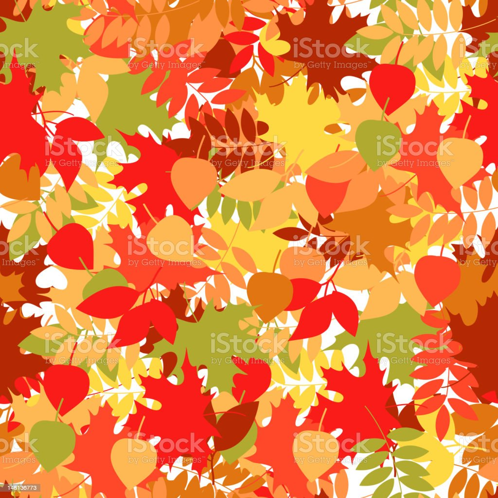 Seamless leaf pattern vector background. royalty-free stock vector art