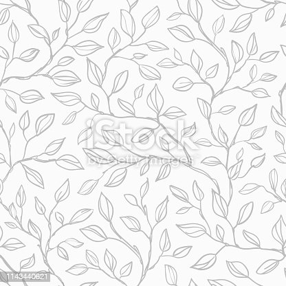 istock Seamless leaves background 1143440621
