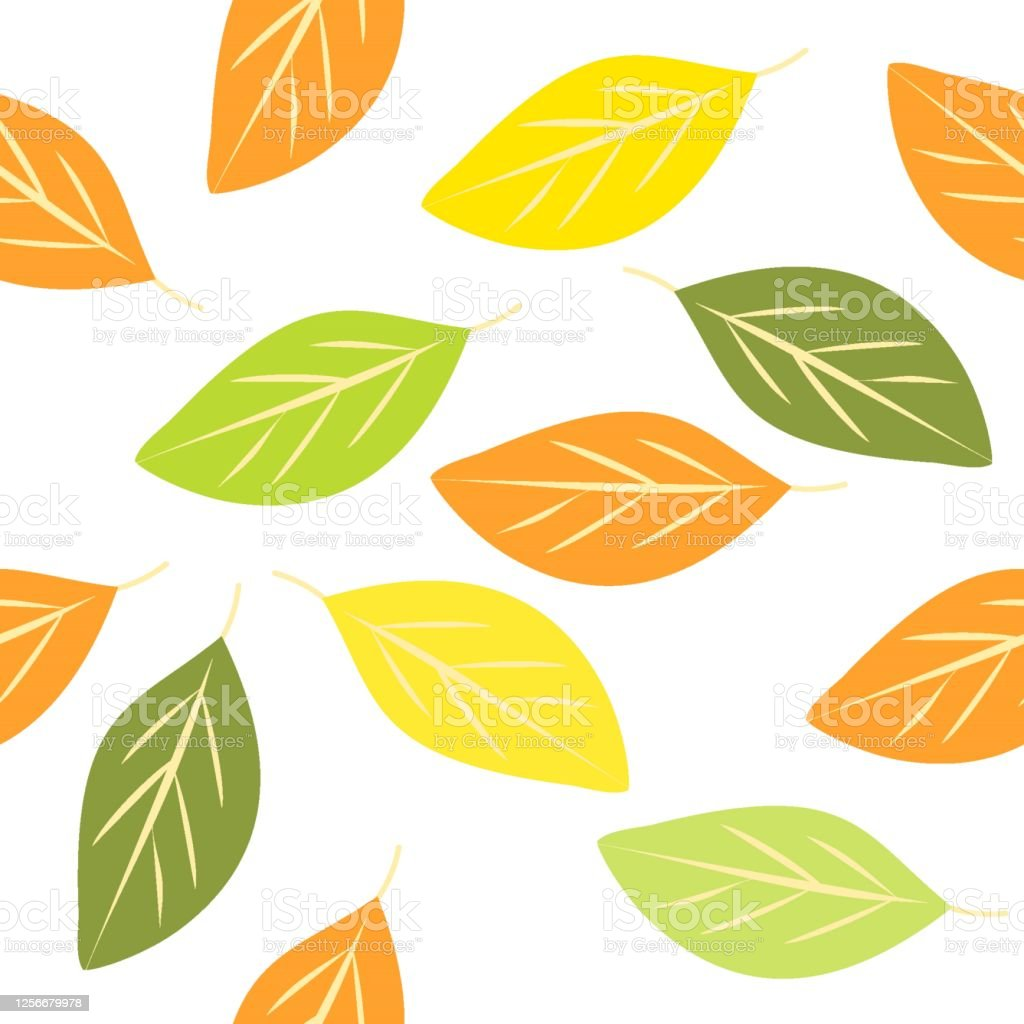 Seamless Leaves Pattern Vector Drawing Autumn Leaves Stock Illustration Download Image Now Istock