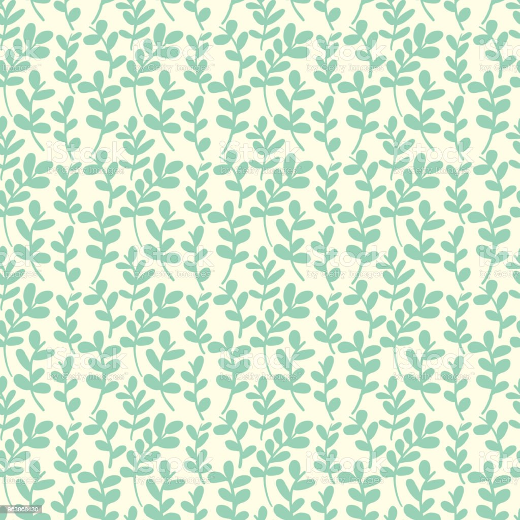 Seamless leaves pattern - Royalty-free Abstract stock vector