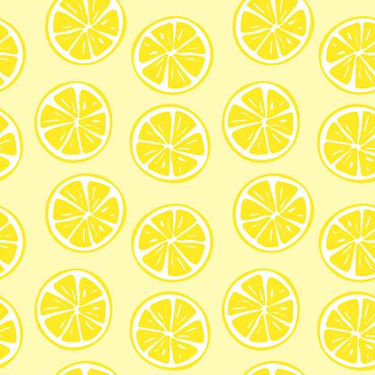 Seamless lemon slice pattern illustration