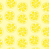 Seamless lemon slice pattern illustration. Perfectly usable for all surface pattern projects.