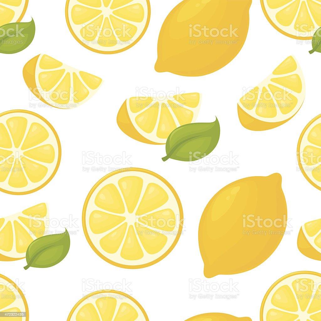 Seamless Lemon royalty-free stock vector art