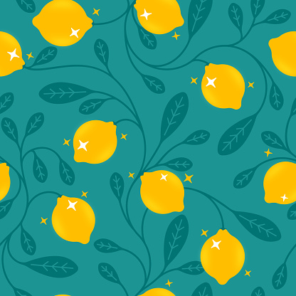Seamless Lemons Background