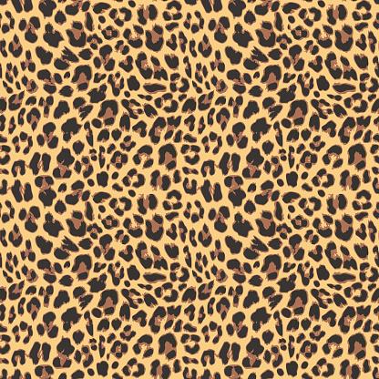 Seamless leopard pattern background design