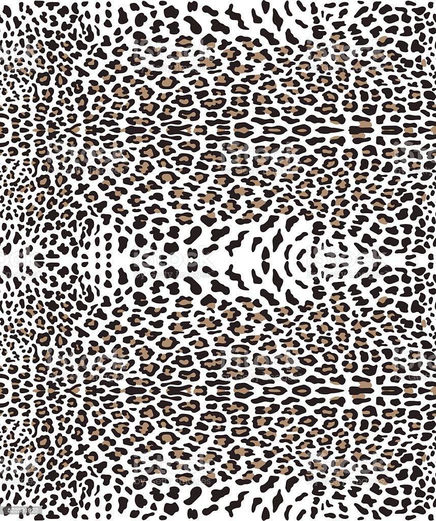 Seamless leopard pattern vector art illustration