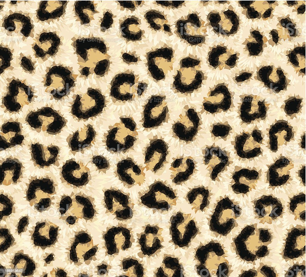 Piel de leopardo patrón sin costuras - ilustración de arte vectorial
