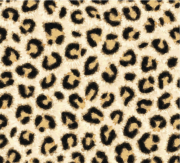 seamless leopard skin pattern - leopard texture stock illustrations, clip art, cartoons, & icons