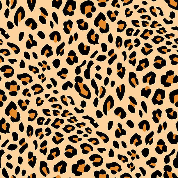 Seamless leopard skin pattern Seamless animal skin print animal markings stock illustrations