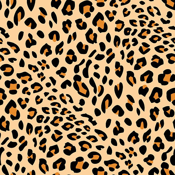 stockillustraties, clipart, cartoons en iconen met seamless leopard skin pattern - leopard print