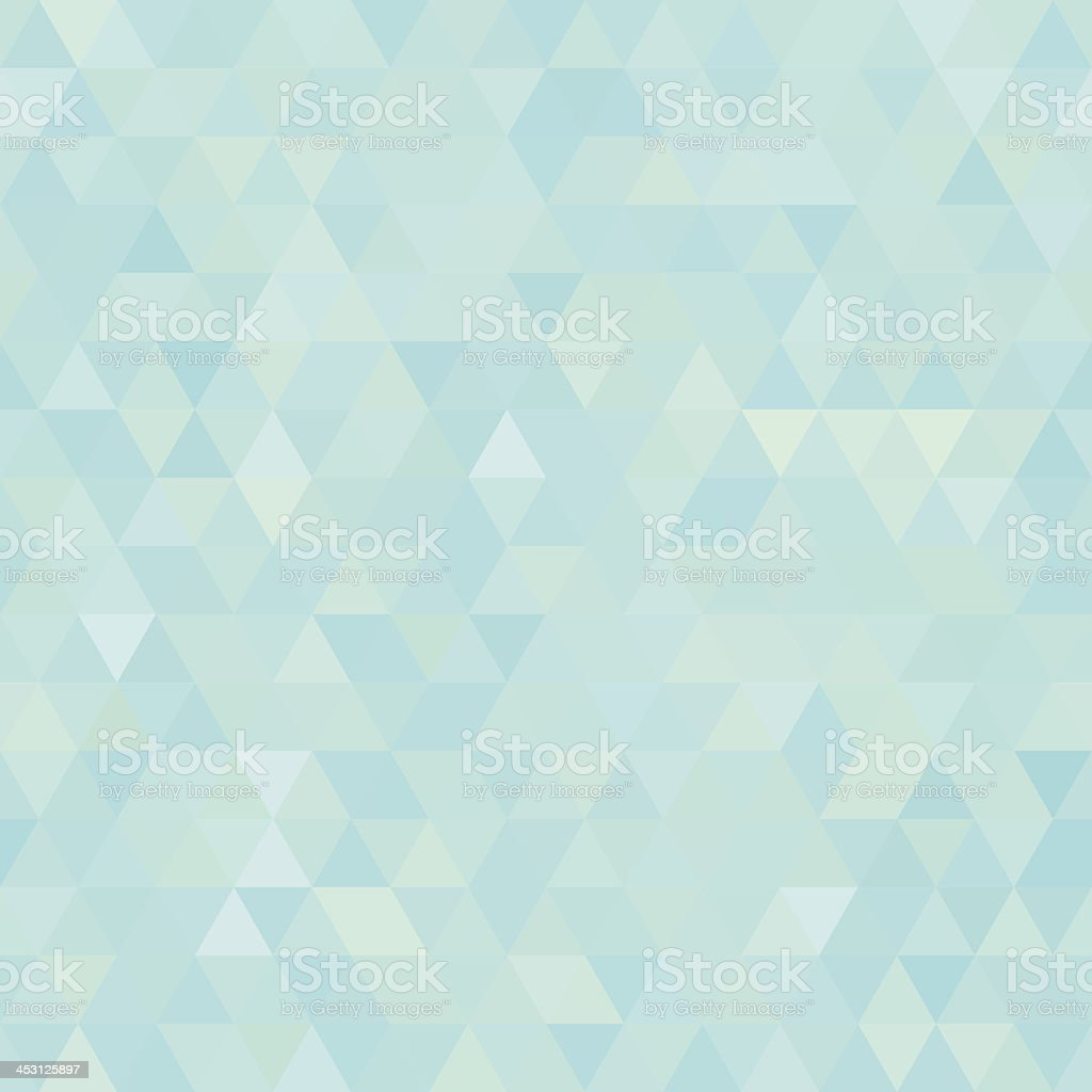 Seamless light blue abstract triangles background vector art illustration