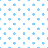 Seamless light blue polka dot on white background