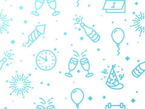 Seamless Light Repeating New Years Eve Celebration Background