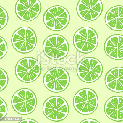 Seamless lime slice pattern illustration. Perfectly usable for all surface pattern projects.