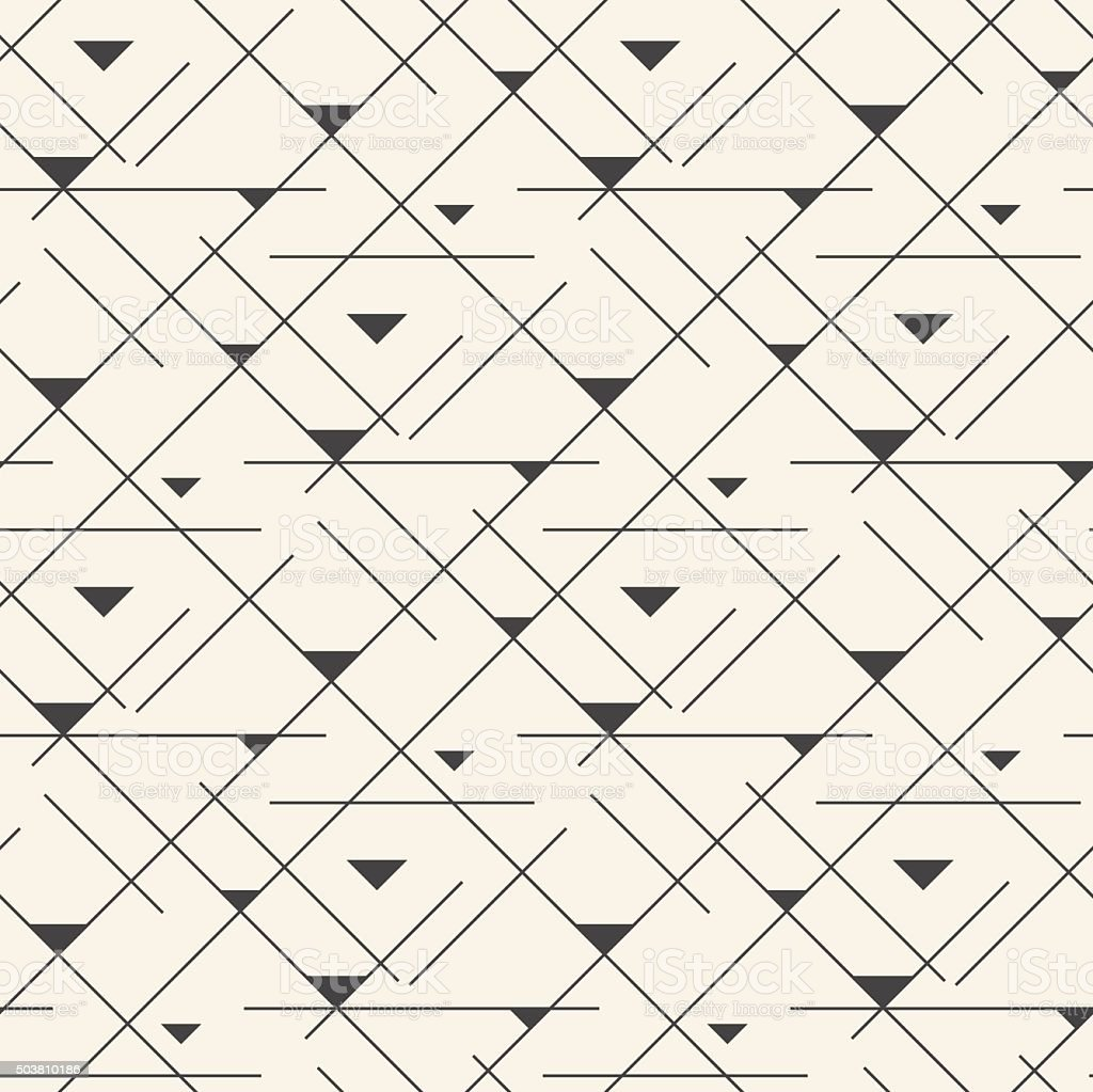 Seamless line abstract pattern tile background vector art illustration