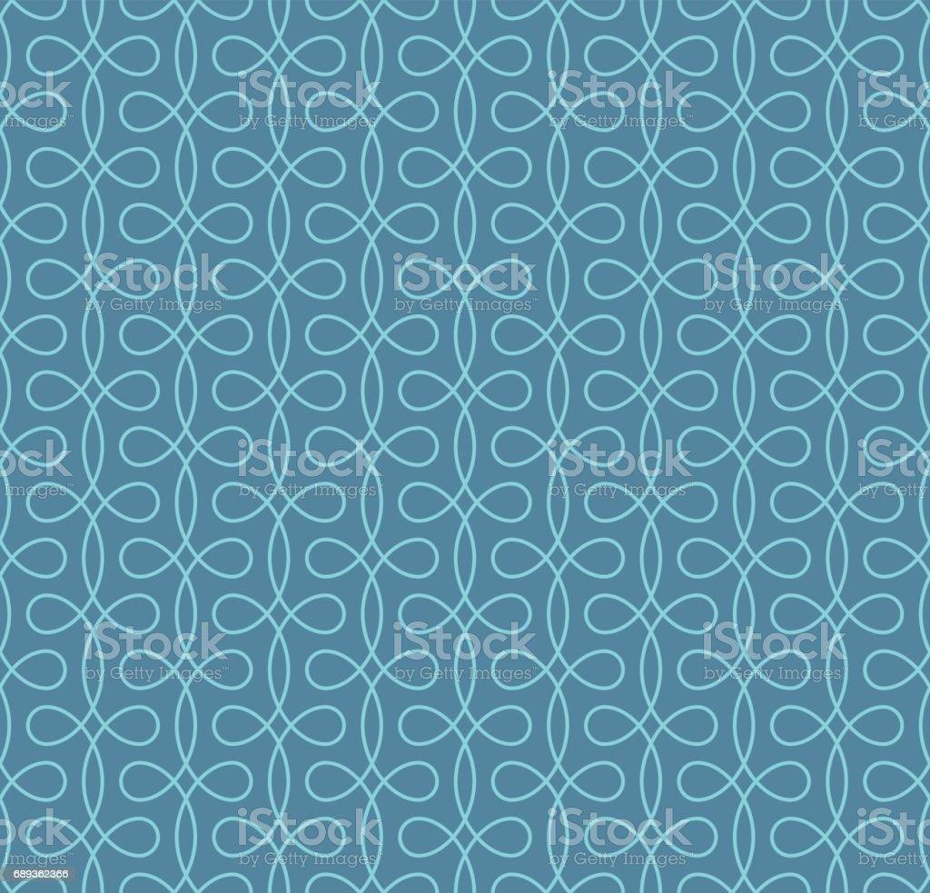 Seamless Linear Flourish Pattern for Retro Design. vector art illustration