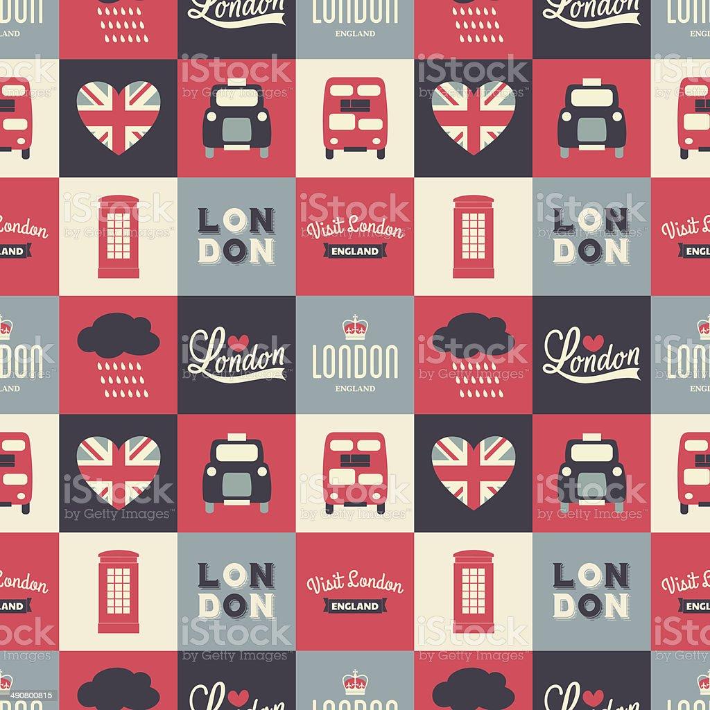 Seamless London Background vector art illustration