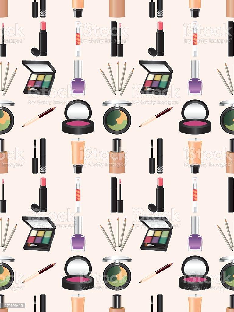 seamless makeup pattern royalty-free stock vector art
