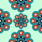 seamless mandala pattern geometric vintage islamic traditional background with pastel colors.